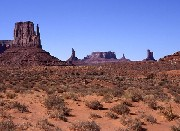 I monoliti della Monument Valley dal John Ford's Point